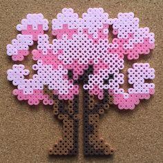 Cherry Blossoms by tsubasa.yamashita fuse beads hama beads nabbi beads nano beads perler beads アイロンビーズ 拼豆 拼拼豆豆