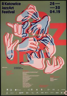 poster design inspiration graphic designers Katowice JazzArt Festival 2019 on Behance Gfx Design, Logo Design, Typography Design, Layout Design, Brand Design, Poster Design Inspiration, Typography Inspiration, Graphic Design Posters, Graphic Design Illustration