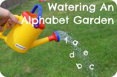 Game for teaching sounds and letters: watering an alphabet garden