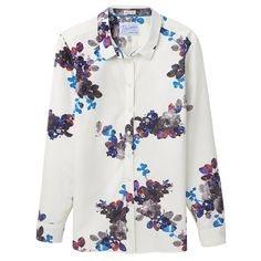 Ladies Joules Kingston shirt has a semi-fitted design with long sleeves and a gorgeous floral print.