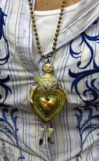 Antique Heart Girl by Debbee Thibault
