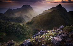 Limestone Mountain Thailand Wide  #Limestone #Mountain #Thailand #Wide