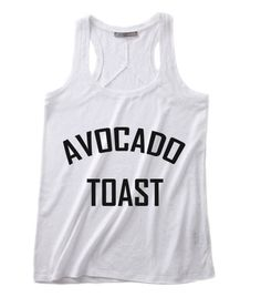 Avocado Toast Summer Funny Quote Tank top, Our Unisex Super soft Tank top Handmade by order with Screen printing or high-quality dtg