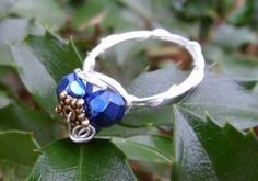 Silent Night Wire Wrapped Ring | AllFreeJewelryMaking.com