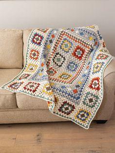 Annie's Crochet, Crochet Shrug Pattern, Granny Square Crochet Pattern, Afghan Crochet Patterns, Crochet Squares, Crochet Crafts, Crochet Hooks, Knitting Projects, Crochet Projects