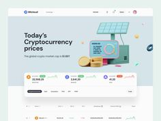 BitCloud – Crypto Exchange UI Kit #3 by Tran Mau Tri Tam ✪ Crypto Market Cap, Directory Design, Modern Web Design, Website Design Inspiration, Job Opening, Ui Kit, Cryptocurrency, User Interface, Portfolio Design