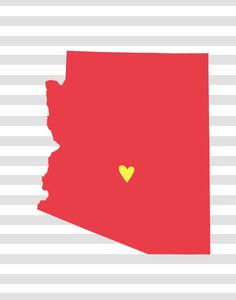 Free Downloadable Picture of Each State (you can add a heart on the map to show where you've lived).
