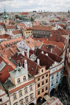 Prague Buildings from Above | photography by http://www.entouriste.com