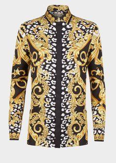 Camisa seda Signature Baroque - estampado Blusas y camisas