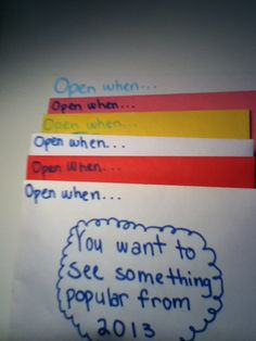 Open When Letters For Friends  MyheartissailingawayTumblrCom