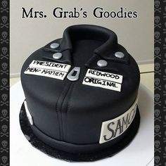 Sons of Anarchy vest cut cake