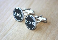 Love this - Custom Engraved Cufflinks  Personalized by FrederickEngraving, $18.95