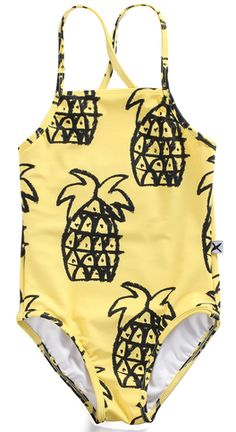 Yellow Pineapple Yardage Minti Swimsuit by Minti <3