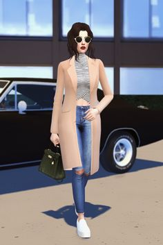 "marion-dubois: """"ootd sunglasses | coat | top | jeans | shoes | bag "" "" Nice"