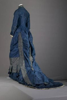 Bridesmaid dress, 1879, at the Chicago History Museum