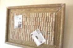 wine cork bulletin board! It might take a while to get enough corks though...my mom NEVER drinks wine. . .