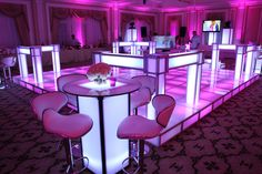 Lit up Dance floor for a bat mitzvah Lounge Design, Lounge Decor, Lounge Furniture, Table Furniture, Teen Lounge, White Lounge, Lounge Party, Wedding Lounge, Bat Mitzvah Party