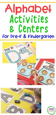 These 14 Alphabet Activities and Centers are perfect for Pre-K and Kindergarten classrooms to explore letters! This printable pack is filled with activities that are ready to be used any time of the year. Use them for alphabet literacy centers, small groups, independent work – you name it! Alphabet Activities Kindergarten, Word Family Activities, Teaching The Alphabet, Letter Activities, Phonics Activities, Kindergarten Classroom, Activity Centers, Literacy Centers, Writing Practice