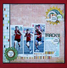 Athletic Accomplishments Scrapbook Page #athlete #crafts