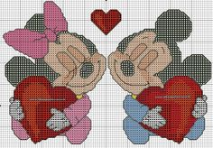 Baby Minnie & Mickey w/ hearts 1 of 2