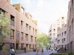 The Bacton Estate by Karakusevic Carson Architects Typology Architecture, Architecture Student Portfolio, Dezeen Architecture, Architecture Events, Brick Architecture, Architecture Visualization, Architecture Drawings, Residential Architecture, Industrial Architecture