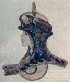 Art Nouveau jewelry sketch by René Lalique via Carina Case via Nancy Jo Alphonse Mucha, Bijoux Art Nouveau, Art Nouveau Jewelry, Jewelry Art, Gothic Jewelry, Stone Jewelry, Beaded Jewelry, Silver Jewelry, Fashion Jewelry