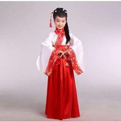 Girl ancient Chinese traditional national costume Hanfu red dress princess children hanfu dresses cosplay clothing girls kids4