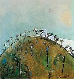 The Works of Fred Williams. Fred Williams selected works, art and famous paintings Canvas Painting Landscape, Watercolor Landscape, Landscape Art, Painting Trees, Australian Painting, Australian Artists, Fred Williams, Aboriginal Art, Art Club