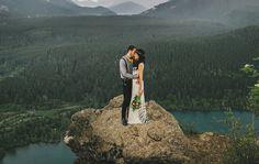 Romantic + adventurous elopement