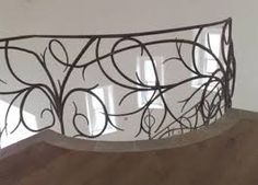 Image result for contemporary wrought iron railings