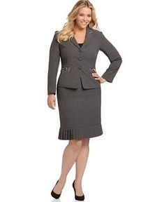 The length of your skirt should be at your mid knee area when you are standing. This applies for both business formal and business casual offices.