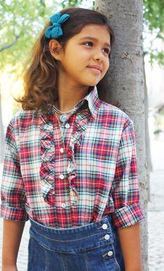 Camisa Escocês Folho com Saia Cintura Ganga Colecção Outono Inverno 2011