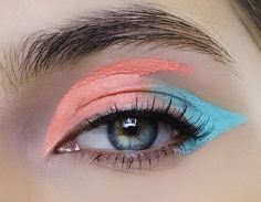 peach... aqua... eyeshadow... makeup