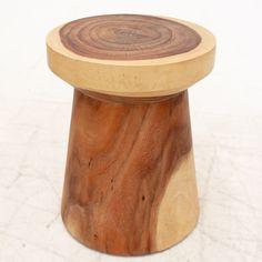Mushroom Stool in solid Soar timber.  Each piece has unique wood grain. 46cm (h) x 36 (d) - 23Kg