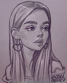No lighting needed on this one sorry Why do I want the same earrings doee Girly Drawings, Art Drawings Sketches Simple, Pencil Art Drawings, Cool Drawings, Cartoon Drawings, Arte Sketchbook, Art Inspiration Drawing, Cartoon Art Styles, Painting & Drawing