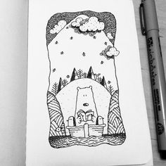 Dave Garbot — Floating Home #illustration #drawing #penandink...