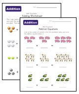 simple addition math worksheets