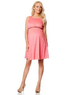 WARM HUES Motherhood Maternity Sleeveless Fit And Flare Maternity Dress