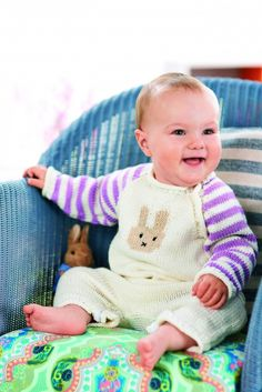 Knitted Adorable baby onesie