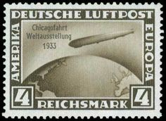 """D.Reich: 1933 """"Chicagofahrt/Weltausstelung/1933"""", complete set of 3 values, u/m. (Mi. 496/498-4000E)."""