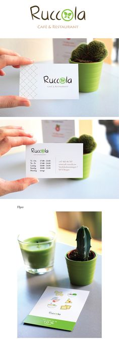 Ruccola café-restaurant on Behance