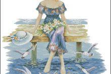 Gallery.ru / Все альбомы пользователя helen61 Cross Stitch, Lady, Punto De Cruz, Dots, Seed Stitch, Cross Stitches, Crossstitch, Punto Croce