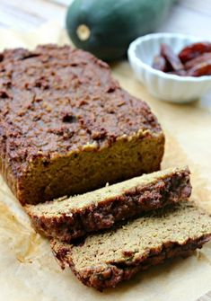 5 minute Zucchini Blender Bread Recipe from Primally Inspired (No Grains, No Added Sugar!) (Meatloaf Recipes No Egg) Paleo Dessert, Healthy Sweets, Healthy Breakfast Recipes, Breakfast Ideas, Healthy Recipes, Keto Recipes, Healthy Food, Breakfast Buffet, Breakfast Bars
