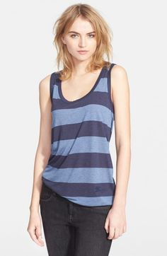 Burberry Women's Brit Stripe Scoop Neck Tank | Top and Clothing