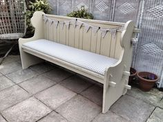 Shabby Chic church pew