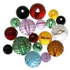 Acryl disco facetten perlen mix bunt (100g) | I-Perlen