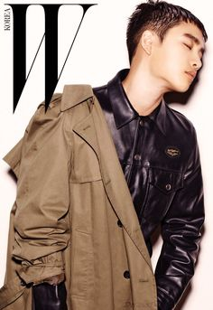 D.O. (디오) for W Korea - Photograph by Kim Hyeon Seong Kyungsoo, Chanyeol, Kaisoo, Korean Fashion Men, Kpop Fashion, Mens Fashion, Exo Album, Exo Korean, Do Kyung Soo