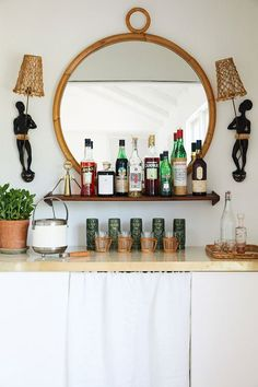 A Dreamy Beach Retreat In Montauk (With A Well Stocked Bar!) (my scandinavian home) Decor, Montauk, Beach Retreat, Bar, Vintage House, Bars For Home, My Scandinavian Home, Home Decor, Home Bar Decor
