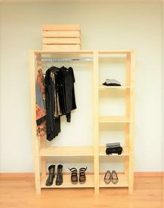 Questioning what good can DIY fitted wardrobes do to your private home? You can be shocked to search out that, they won't solely improve your closet-s. Diy Wardrobe, Wardrobe Design, Diy Pallet Furniture, Furniture Plans, Diy Fitted Wardrobes, Exposed Closet, Clothes Storage Systems, Bedroom Decorating Tips, Wooden Closet