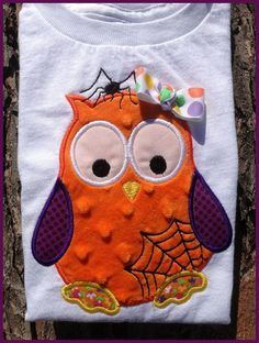 Halloween Owl 04 Machine Applique Embroidery Design  by KCDezigns, $3.99